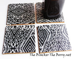 African Kente Coasters Black White Home Decor Kitchen The Blacker The Berry®