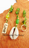 Hair Jewelry Ethnic Green Cowrie Shell Love Handmade