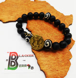 African Bracelet Adinkra Unisex Black Beaded The Blacker The Berry®