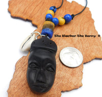African Wooden Car Accessories Rear Mirror Charm
