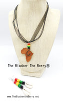 Rasta Necklace Jewelry Set African Cowrie Shell The Blacker The BerryⓇ