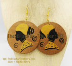 Hand Painted Earrings African Jewelry The Blacker The BerryⓇ