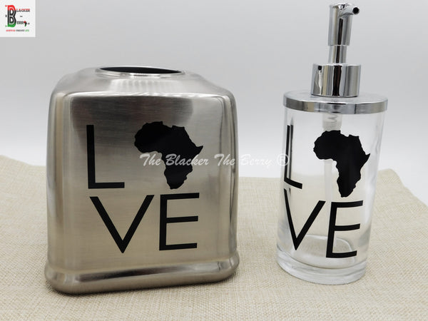 Africa Home Décor Silver Tissue Cover Soap Dispenser