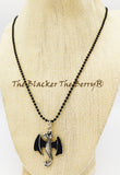 Dragon Necklace Jewelry Silver Black