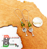 Drink Earrings Green Beaded Wine The Blacker The Berry®