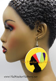 Black Women Earrings Yellow Ethnic Jewelry African