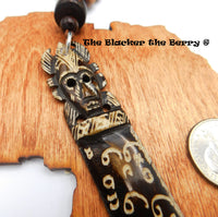 African Carved Ethnic Rear Car Mirror Charm Gift Ideas Unique Accessories Kwanzaa