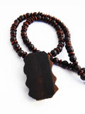 African Necklace Wooden Carved Men Gift Ideas for Him