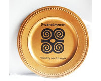African Charger Plate Dwennimmen Gold Acrylic 13 inch Decorative Plate Christmas Kwanzaa Home Decor