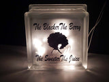 The Blacker The Berry Sweeter The Juice Glass Block Afrocentric Home Decor Planter Change Holder