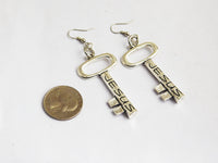 Jesus Earrings Christian Jewelry Women Silver Gift Ideas for Her