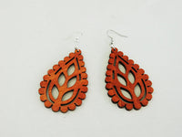 Nature Earrings Leaves Fall Wooden Jewelry Women