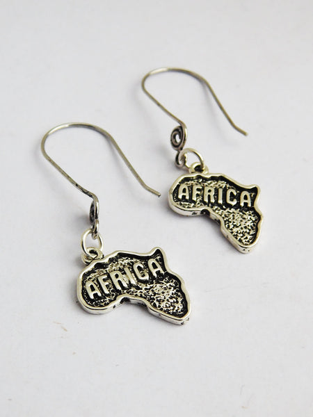 Silver Africa Earrings Long Dangle Jewerly