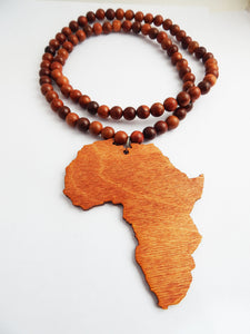 Men african necklace beaded jewelry wooden large africa pendant men african necklace beaded jewelry wooden large africa pendant mozeypictures Choice Image