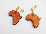 Africa Post Earrings Wooden Small African Jewelry Ethnic Afrocentric Gold Women Teen Girls Gift Ideas