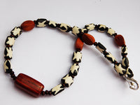 Men African Choker Necklace Beaded Ethnic