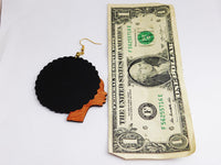 Afro Earrings Wooden Jewelry Women Ethnic