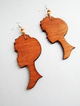 Afro Earrings Silhouette Ethnic Jewelry African Afrocentric Handmade