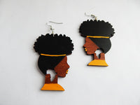 Afro Earrings Natural Hair African Jewelry Wooden The Blacker The Berry®