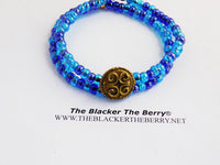 African Bracelet Anklets Jewelry Blue Beaded