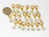 Loc Jewelry Personalized Letters Gold Tone Hair Accessories