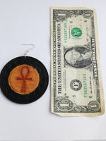 Ankh Earrings Wooden Hand Painted Ankh Jewelry Gift Ideas for Her Handmade