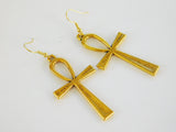 Ankh Earrings Gold Jewelry Gift Ideas for Her