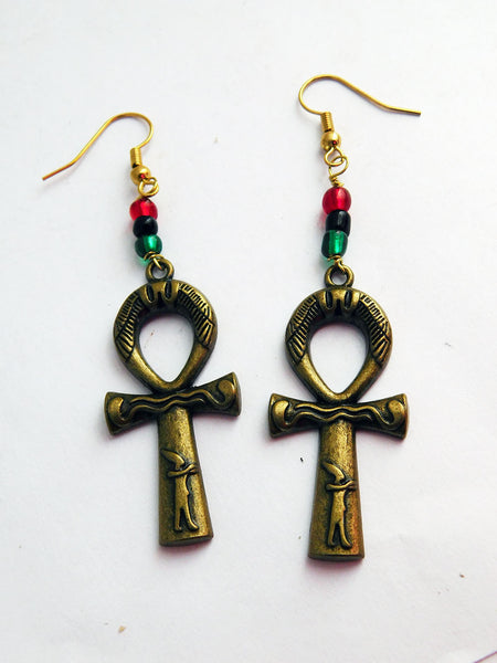 Ankh Earrings Gift Ideas for Her African Jewelry