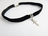 Choker Necklace Ankh Black Egyptian Unique Chokers for Women