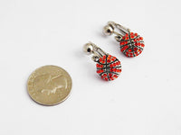 Basketball Earrings Clip On Non Pierced Jewelry