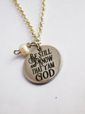 Be Still Jewelry God Necklace Christian Gift Ideas for Her Christmas