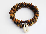 Men Bracelet Beaded Wooden Jewelry Set Gift Ideas for Him