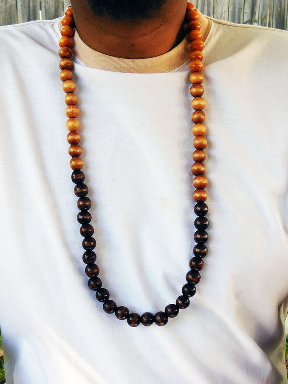 Wood Beaded Necklace Men Jewelry