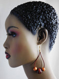 Leather Earrings Beaded Wooden Jewelry Women The Blacker The Berry®