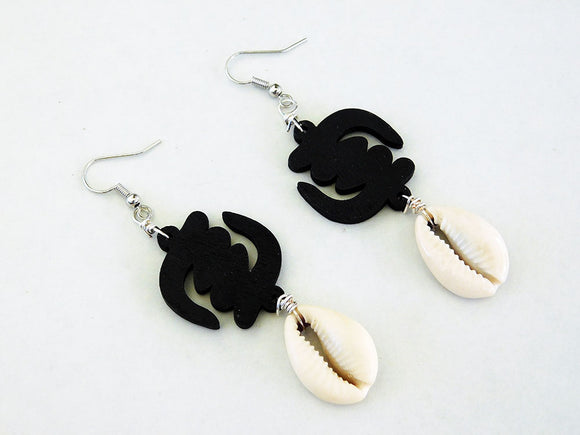 Gye Nyame Earrings Adinkra Jewelry Black African Earrings