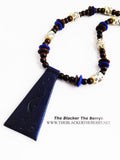 African Leather Beaded Necklace Jewelry Blue Jewelry