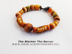 Beaded Bracelets Wooden African Ethnic Jewelry