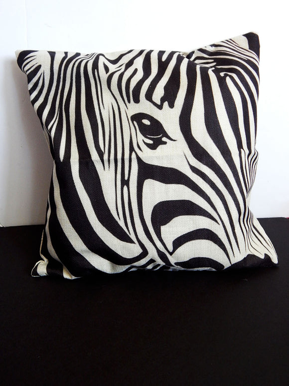 Zebra Pillowcase African Zebra Pillow Covers Black & White Afrocentric Animal Decorative Pillows Accent Home Decor Ethnic Safari
