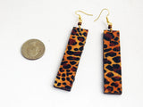 Cheetah Print Earrings Long Dangle Jewelry African