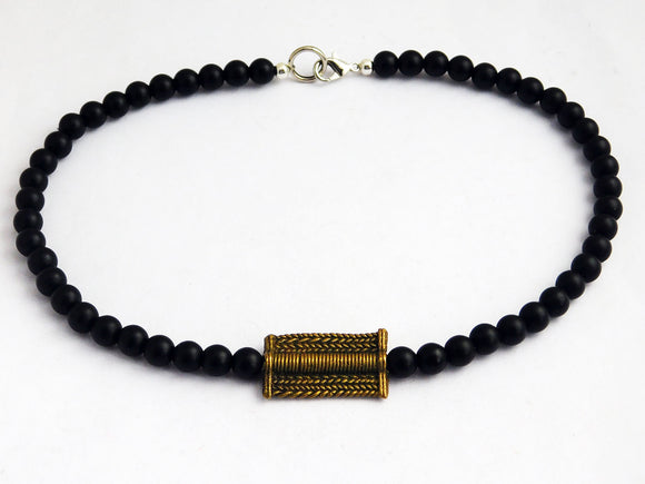 African Choker Necklace Beaded Men Jewelry