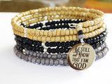 Christian Bracelet Gift Ideas for Her Women Christmas Gift Be Still and Know that I am God