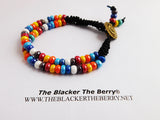 Anklet Women Sankofa Beaded Leather Summer Jewelry