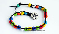 Anklet Colorful Summer Leather Beaded