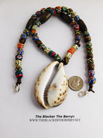 Large Cowrie Necklace Beaded Jewelry Shell Men Women The Blacker The Berry®