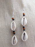 Cowrie Shell Earrings African Jewelry Ethnic