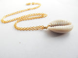 Cowrie Shell Necklace Gold African Ethnic Jewelry The Blacker The Berry®