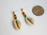 Cowrie Shell Post Earrings African Jewelry Ethnic