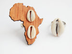 African Rings Cowrie Shell Ethnic Afrocentric Africa Ring Handmade Wooden
