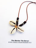 Cowrie Shell Necklace Beaded Tribal Ethnic Jewelry
