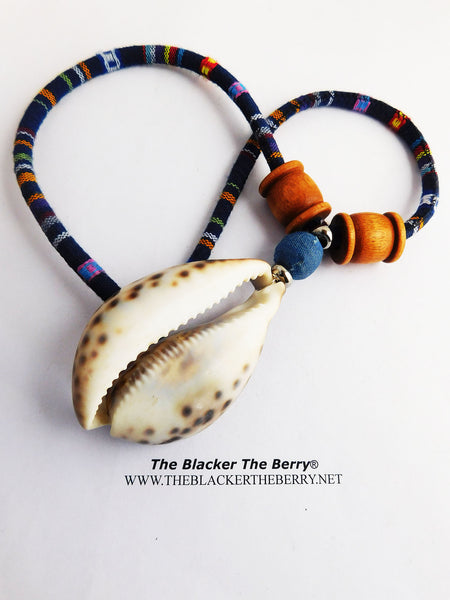 Cowrie Necklace African Shell Jewelry